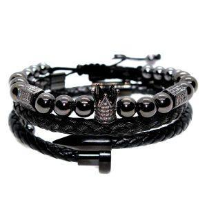 Toronto, Ontario, Montreal, Quebec, Vancouver, British Columbia, Calgary, Alberta, Edmonton, Alberta, Canada, Black And Gold Bracelet, Black Tennis Bracelet, Black Stainless Steel Bracelet, Black And White Diamond Bracelet, Black For Guys, Black Diamond Bracelet 14K,Ohio Bracelet Black Jewelry