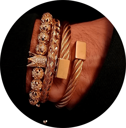 Royal Crown Bracelet Wood Buffalo